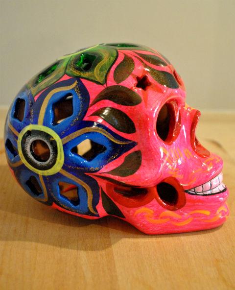 Tienda Elena - Calavera rose - Décoration et artisanat mexicain - Fait main - hecho en Mexico - 1