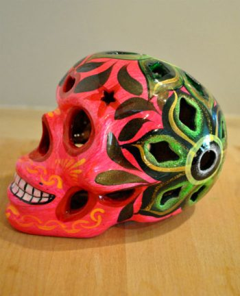 Tienda Elena - Calavera rose - Décoration et artisanat mexicain - Fait main - hecho en Mexico - 2