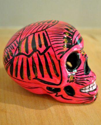 Tienda Elena - Calavera rose et noire - Décoration et artisanat mexicain - Fait main - hecho en Mexico - 1