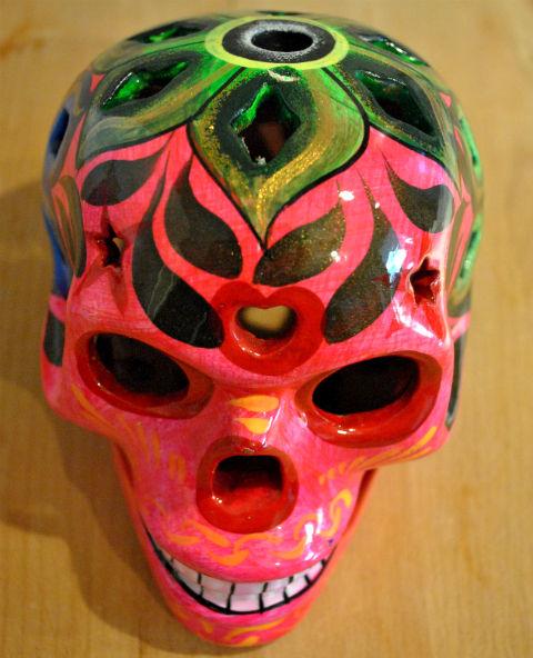 Tienda Elena - Calavera rose - Décoration et artisanat mexicain - Fait main - hecho en Mexico