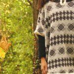 Tienda Elena - Poncho blanc et brun - mexique - hecho en mexico - esprit bohème - tendance - mode - 2