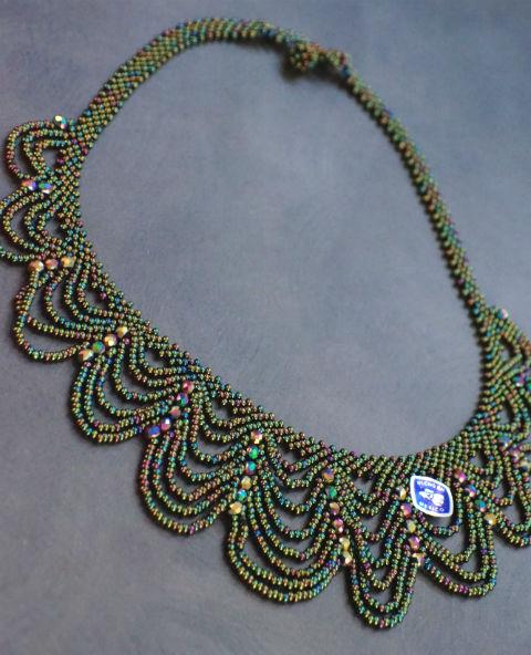 Tienda Elena - collier vie de bohème - bijou ethnique - perles de rocaille - look bohème - amérindien - 1