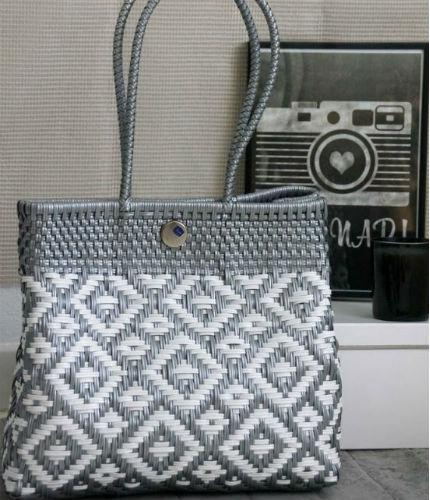 Tienda Elena - Mode et inspiration mexicaine - sacs cabas mexicain - secret fabrication - blog - Cabas blanc et argent