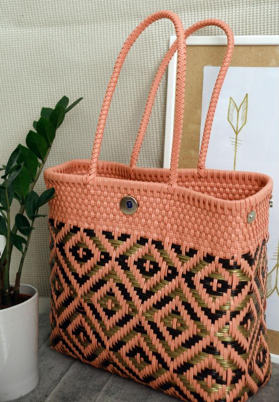 Tienda Elena - Mode et inspiration mexicaine - sacs cabas mexicains - secret fabrication - blog - Cabas rose et doré