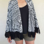 Tienda Elena - Mode et inspiration mexicaine - gilet inca - Noir & Blanc - mode bohème chic - ethnique - 1