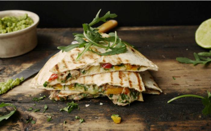 Tienda elena - quesadilla de thon - recette - plat mexicain - repas sain - blog