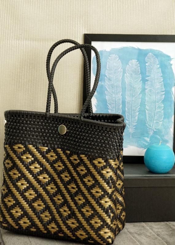 Tienda Elena - Mode et inspiration mexicaine - sacs cabas mexicains - secret fabrication - blog - Cabas noir et doré