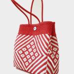 Tienda Elena - Mode et inspiration mexicaine - décoration et artisanat mexicain - fait main - hecho en Mexico - sac cabas mexicain tissé ethnique chic rouge et blanc - tendance bohème chic - 1