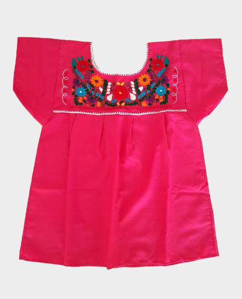Tienda Elena - Blouse mexicaine rouge - artisanat mexicain - Fait main - hecho en Mexico - style bohème chic - hippie - 2