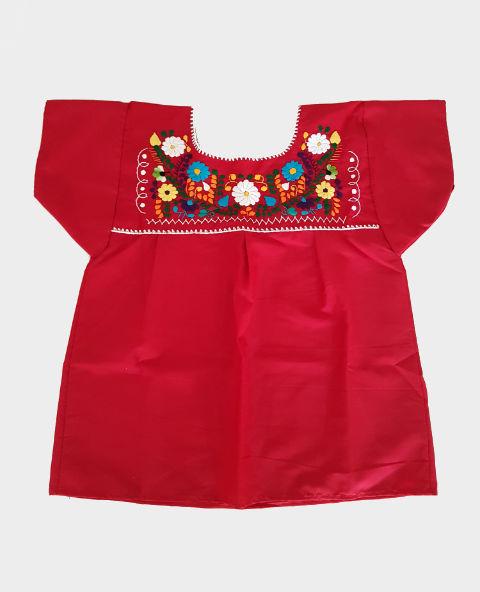 Tienda Elena - Blouse mexicaine rouge - artisanat mexicain - Fait main - hecho en Mexico - style bohème chic - hippie - 1