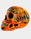 Tienda Elena - Déco du Mexique - Crâne mexicain en céramique orange et noir - fait main - 1