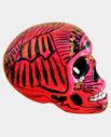 Tienda Elena - Crâne mexicain en céramique rose et noir - déco du Mexique - fait main - 1