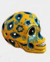 Tienda Elena - Calavera jaune et bleue - Décoration et artisanat mexicain - Fait main - hecho en Mexico - 2