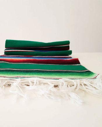 Tienda Elena - Couverture mexicaine emeraude - Mode et inspiration mexicaine - déco colorée - sarape mexicain - sarape vert - hecho en mexico - déco du mexique - 1
