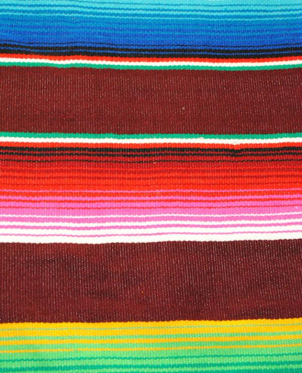 Tienda Elena - déco du mexique - Sarape bordeaux - Décoration et artisanat mexicain - Fait main - Hecho en Mexico - 2