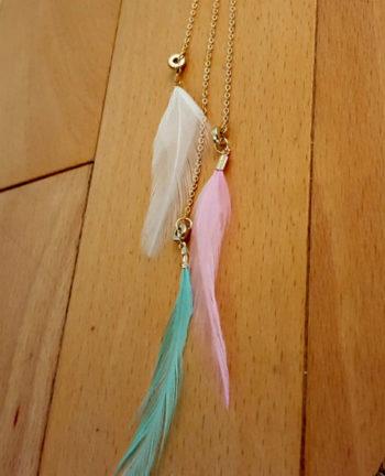 Tienda Elena - Sautoir plumes - 3 - bohème chic - bijoux ethniques