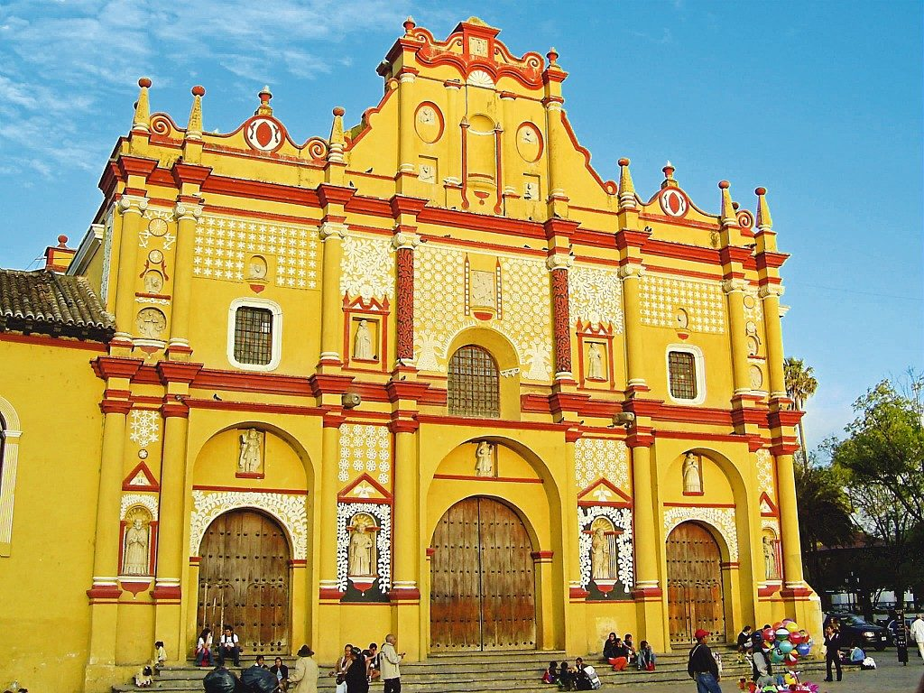 La Cathédrale de San Cristobal de las Casas au Mexique