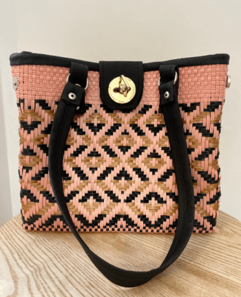 Sac à main mexicain rose et doré - Tienda Elena - Déco et artisanat mexicain - Accessoires - 1
